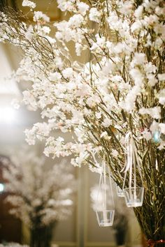 Cherry blossom wedding decor | A Classic Wedding at Four Seasons with Cherry Blossoms: Kelvin and Charmaine