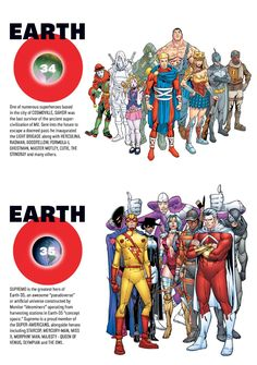 Earth-34 and Earth-35