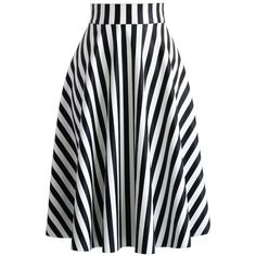 Chicwish Slanted Stripes Faux Leather Midi Skirt (£26) ❤ liked on Polyvore featuring skirts, chicwish, jupes, multi, vegan leather skirt, button down skirt, vegan leather midi skirt, mid-calf skirt and stripe skirt