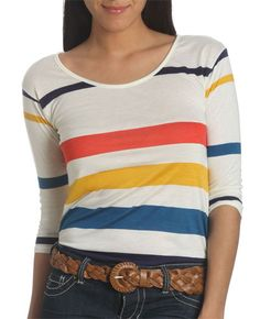 Engineered Stripe Tee from Wet Seal.
