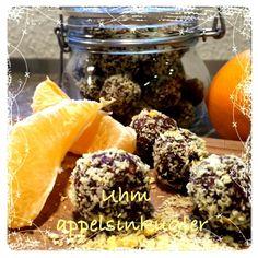 Appelsinkugler - Mad i Harmoni Lchf, Fudge, Acai Bowl, Diabetes, Cake Recipes, Cereal, Low Carb, Sweets, Baking