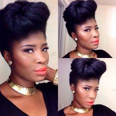 Regal Natural updo shared by Virginia - Black Hair Information Community Natural Hair Updo, Natural Hair Growth, Natural Hair Styles, Big Hair, Your Hair, Locks, Afro Hairstyles, Black Hairstyles, Hairstyles 2018