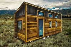 The Roanoke From Tumbleweed Tiny Houses is a Rustic Dream Home Tiny House Stairs, Shed To Tiny House, Tiny House Plans, Tiny House On Wheels, Tiny House Design, Tiny House Exterior, Modern Exterior, House Exteriors, Tumbleweed Tiny Homes