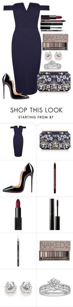 Untitled #1267 by fabianarveloc on Polyvore featuring Oscar de la Renta, Christian Louboutin, NARS Cosmetics, Surratt, Barry M, Urban Decay and Tiffany & Co.
