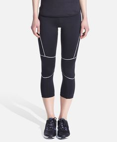 Crop leggings with seam detail - OYSHO