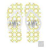 Metallic Monogram Flip Flops - Interlock Clover | Three Hip Chicks #flipflops #monogramflipflops #metallic #personalizedgift #threehipchicks