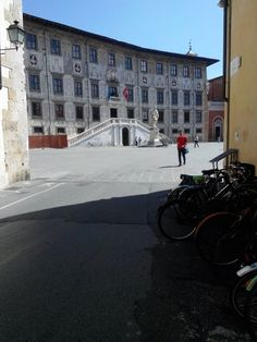 View to Pza dei Cavalieri.Pisa, Italy .