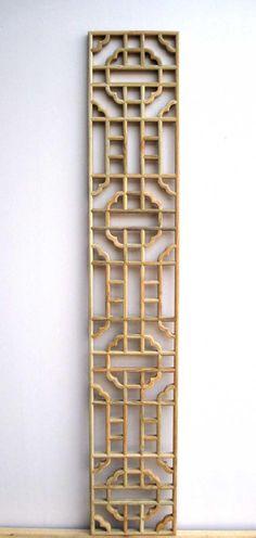Antique wood paned chinese style wood lattice antique flower window ceiling plaid US $45.03
