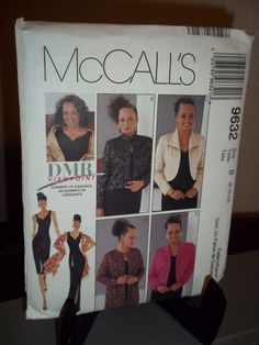 McCalls #9632 Sewing Pattern Misses Lined Dress Jacket Stole Size 8 10 12    #McCalls