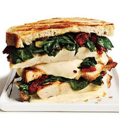 Panini Recipes: Rosemary-Chicken Panini with Spinach and Sun-Dried Tomatoes | CookingLight.com