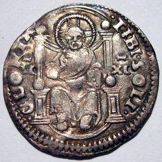 Italy Venice Doge Agostino Barbarigo 1486-1501 Silver Marcello 1/2 Lira Medieval