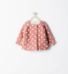 BUBBLES MIXED FABRIC COAT from Zara
