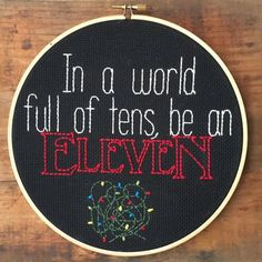 Stranger Things Hoop ArtStranger Things fandom gets a little stitchy.Stranger Things Hand Embroidery Hoop, $25, available at Etsy. #refinery29 http://www.refinery29.com/2016/12/128466/cool-pop-culture-gifts-2016#slide-17