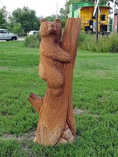 Tree Stump Face Carvings - Google Search