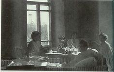Anastasia, Tatiana, Alexei and Olga at tea, Tobolsk, 1917