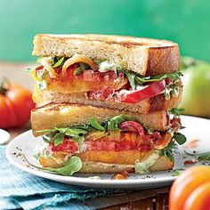 Over-the-Top Tomato Sandwich | Whether eaten at a white tablecloth spot or over the kitchen sink, this is the sandwich we wait for all year. | SouthernLiving.com