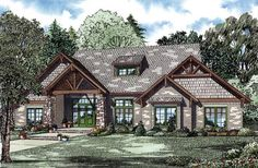 Country Craftsman House Plan 82262