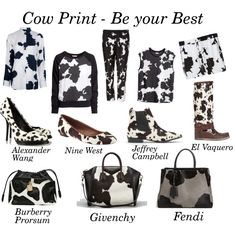 """""""Cow Print Trend"""" by gabriela2105 on Polyvore"""