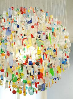 plastic chandelier, design by Stuart Haygarth