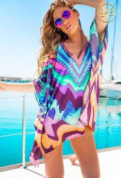 69e2cd939b LINDSEY BROWN Sorrento Lavender Kaftan Update your holiday wardrobe in our  latest designer Kaftan by Lindsey Brown. The Sorrento light weight printed  ...