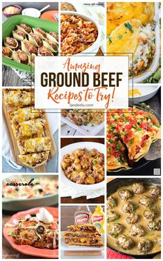 Amazing Ground Beef Recipes To Try! of THE BEST GROUND BEEF RECIPES - Pull some ground beef out of the freezer and try one of these awesome ground beef recipes tonight! Over 25 delicious meals to make! Just grab some hamburger and pick one! Best Ground Beef Recipes, Meals To Make With Ground Beef, Delicious Meals, Yummy Food, Cooking Recipes, Healthy Recipes, Snacks Recipes, Cooking Videos, Cookbook Recipes