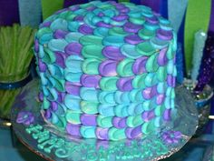 Perfect simple cake for a Mermaid Birthday Party Birthday Fun, First Birthday Parties, First Birthdays, Birthday Ideas, Mermaid Birthday Cakes, Mermaid Cakes, Sirenita Cake, Little Mermaid Parties, Cake Smash