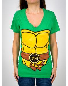 Teenage Mutant Ninja Turtles with Mask V-Neck junior Fitted Tee