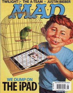 mad magazine.....Alfred E. Newman.  The cartoon love child of David Letterman?