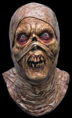 Look out, something has escaped the tomb! All latex over-the-head mask with the appearance of mummy wrappings. Quality mask!