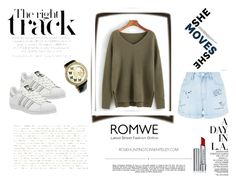 """""""Romwe"""" by malina-husgovic ❤ liked on Polyvore featuring New Look, Whiteley, adidas and By Terry"""