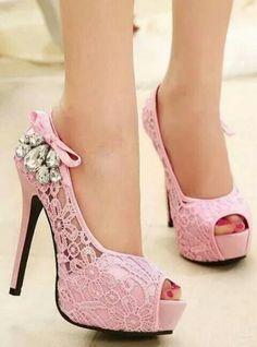 summer wedding shoes woman fashion lace rhinestone thin high heels platform  pumps girls open toe Sandals for women (Mainland)) 8d2df0105445