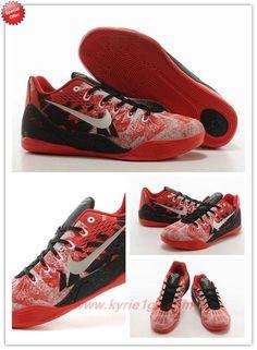 Nike Kobe IX Red / white / black 74194-008 Outlet YIL4XN
