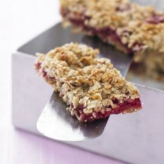 Raspberry Oat Traybake Recipe Desserts with fresh raspberries, butter, clear honey, rolled oats, ground almonds, almond extract