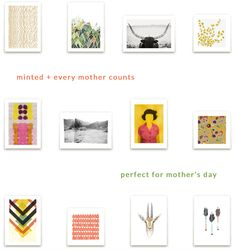 I have the perfect suggestion for a Mother's Day gift. Minted's limited edition art prints are fantastic (seriously, I am so impressed), affordable, and best of all, they support Every Mother Counts. #gifts #mothersday #donation #helping