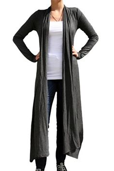 bfe48561007a5 Womens Open Cardigan with Long Front Panelsmultiple Styling Options S  Charcoal   Amazon most trusted e-retailer  YogaWear. Happy Fitness · Yoga  Wear