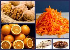 Carrot cake porridge (walnut, carrot, raisins, orange, yummy :))