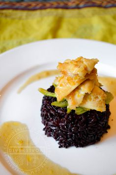 A twist on the standard sole a la meuniere, this pairs delicious, affordable, sustainable Pacific Dover Sole with lemon, ginger, celery, and forbidden rice.