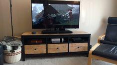 wooden TV stand IKEA HEMNES