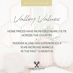 @coupleofagents || Home Values are on the rise - 2017 was an incredible year for our AZ housing market, and 2018 is looking healthier than ever - interested in seeing the updated value of your home, just shoot us a message, we're offering complimentary home value estimates + consults for completely free! #CoupleOfAgentsRealEstate #myphx