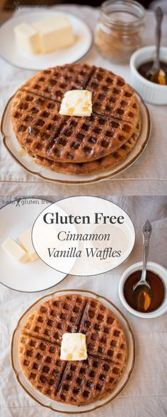 Delicious gluten-free cinnamon vanilla waffles! Fluffy, slightly crunchy, and perfect for a lazy Saturday morning (or any morning really)