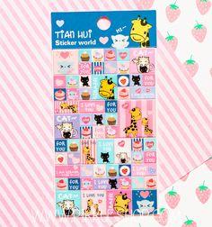 Korean Tian Hui Stickers from Pikku Shop   www.pikku-shop.com   #kawaii #stickers #giraffe #cute Kawaii Stickers, Cute Stationery, Giraffe, Korean, My Love, Shop, Felt Giraffe, Korean Language, Store