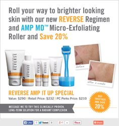 When you add AMP MD to your Reverse Regimen you can achieve that beautiful skin you desire even more quickly