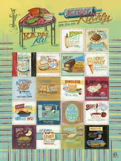 In this retro-themed stamp issue, we celebrated the classic Kiwi dishes that New Zealanders know and love. From cheese rolls to cheerios, these staple dishes have been mandatory in Kiwi kitchens for generations. Fairy Bread, Kiwiana, Cookery Books, First Day Covers, Wonderful Recipe, Stamp Collecting, Art Google, Tray Bakes, Retro