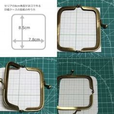 Pattern Drafting for the Rectangle Shape Metal Clutch Frame Quilted Purse Patterns, Patchwork Bags, Quilted Bag, Sewing Patterns, Embroidery Purse, Frame Purse, Pencil Bags, Wallet Pattern, Fabric Bags