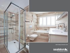 Sealskin badkamer, met Sealskin duka 2100 swingdeur voor nis. (foto ...