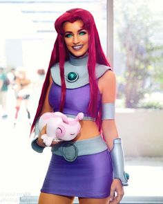 /r/cosplay: for photos, how-tos, tutorials, etc. Cosplayers (Amateur and Professional) and cosplay fans welcome. Teen Titans Cosplay, Dc Cosplay, Anime Cosplay, Star Fire Cosplay, Teen Titans Costumes, Marvel Cosplay, Cosplay Makeup, Cosplay Outfits, Best Cosplay