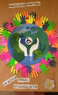 Engelliler Haftası Etkinlikleri - #Engelliler #Etkinlikleri #haftası Diy Crafts For Kids, Gifts For Kids, Art For Kids, Art Bulletin Boards, School Displays, Earth Day, Art School, Kindergarten, Early Education
