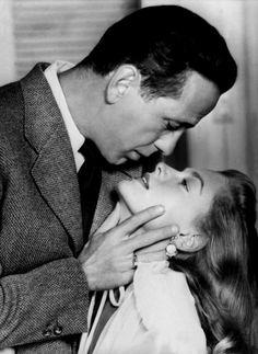 Humphrey Bogart and Lauren Bacall so much lust
