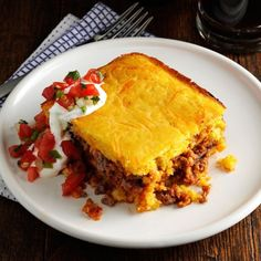 Corn Casserole Recipe With Cornmeal.Easy Corn Casserole Just 5 Ingredients! Dinner Then . For The Best Corn Casserole Grab Your Cast Iron Skillet . Beef Casserole Recipes, Ground Beef Casserole, Corn Casserole, Meat Recipes, Cooking Recipes, Cooking Ham, Italian Cooking, Pasta Recipes, Salad Recipes