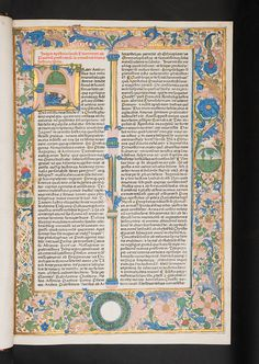 Illuminated and decorated borders and initial in Biblia   Flickr - Photo Sharing!